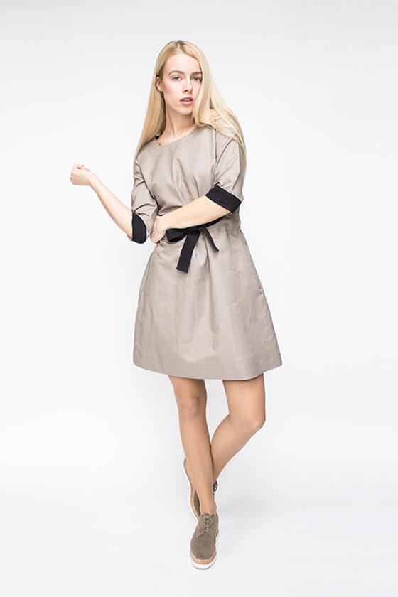 pilka lininė suknelė - LinenSheep