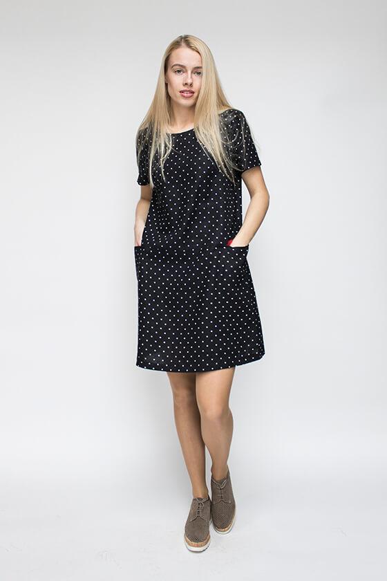 taškuota lininė suknelė - LinenSheep