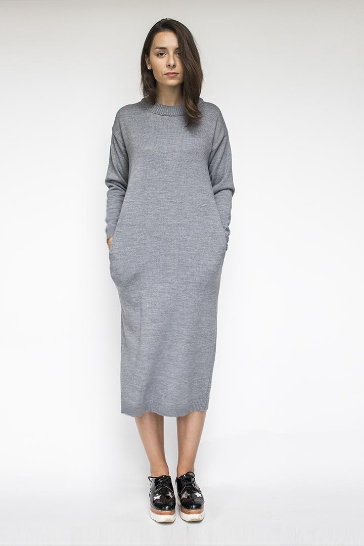 Vilnonė Suknelė | 70% merino vilna 30% poliamidas | LinenSheep
