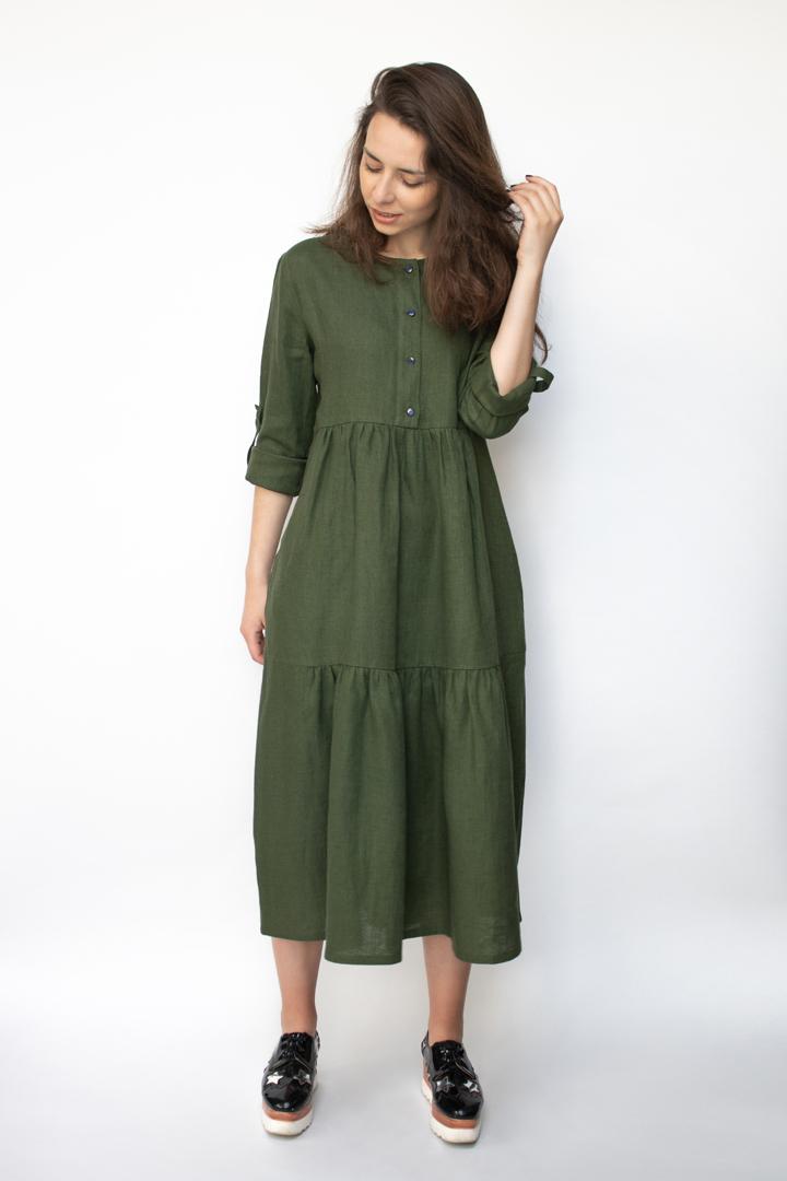 didelių dydžių suknelės - LinenSheep