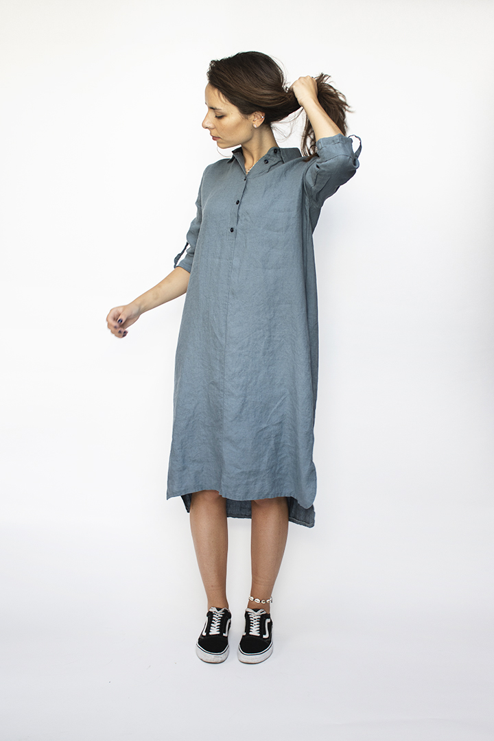 ilgos lininės suknelės - LinenSheep