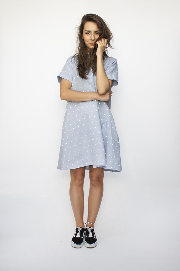 Lininė suknelė - polka dots - LinenSheep