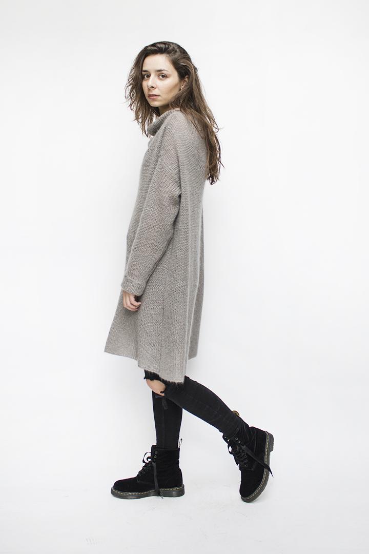 Ilgas megztinis - mohera - LinenSheep