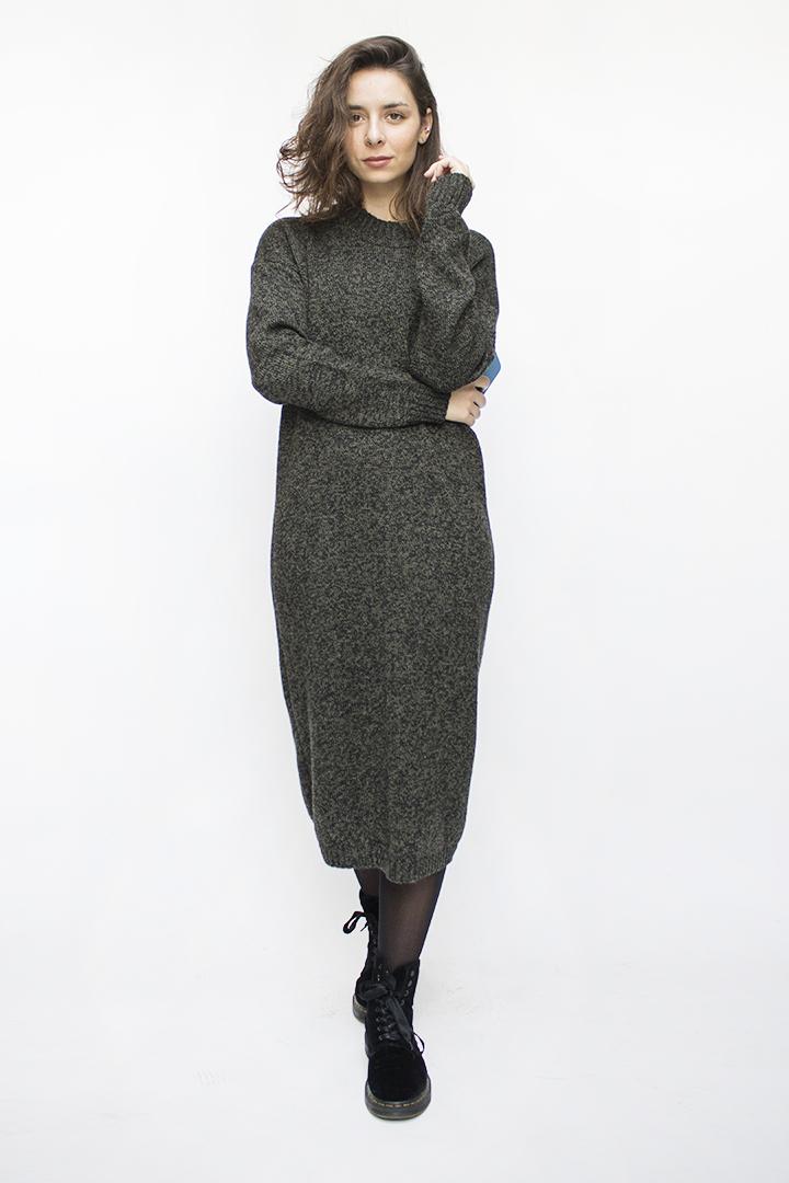 Vilnonė žalia suknelė internetu - LinenSheep