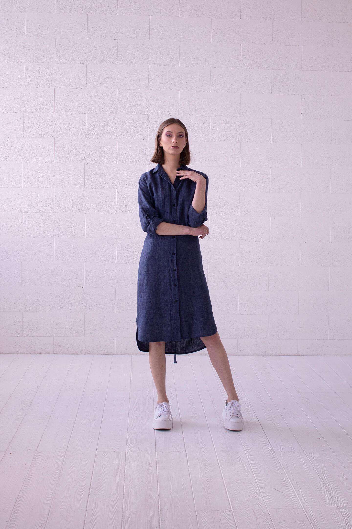 Lininė suknele